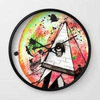 sandman Wall Clocks featuring Sandman by Logan David
