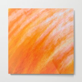 Tidal 5 Orange with Red - Abstract Art Series by Jennifer Berdy Metal Print