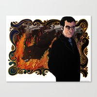 crowley Canvas Prints featuring Crowley by Catus