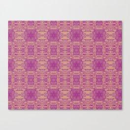 Mirror Pattern Tribal Style 2.0 -  Pink & Brown Canvas Print