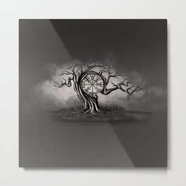 Vegvisir Tree Metal Print