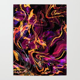 Fluid Abstract 40; Emotional Outburst Poster