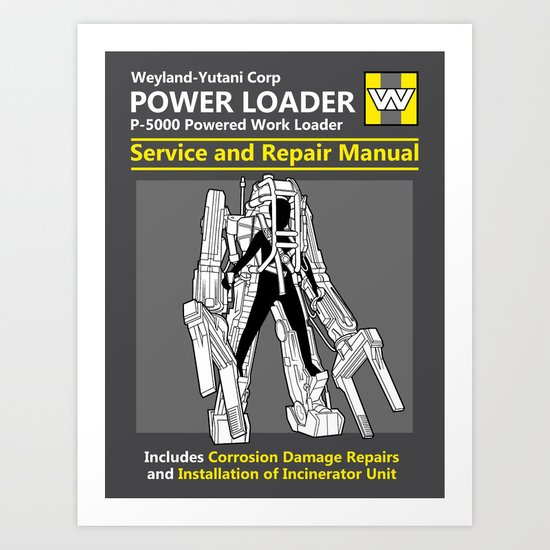 Power Loader Service and Repair Manual Art Print