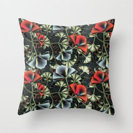 flores misteriosas Throw Pillow