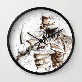 Rorschach - Watercolor Splatter Art Wall Clock