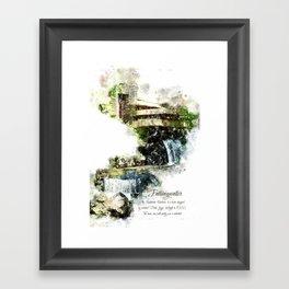 Fallingwater High, Watercolor Framed Art Print