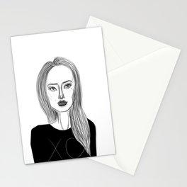 XO Girl Fashion Illustration Stationery Cards