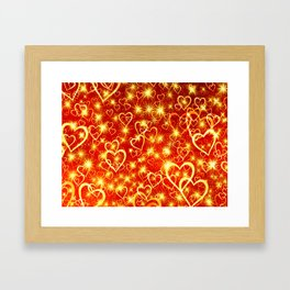 Hearts On Fire Framed Art Print