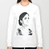 emma watson Long Sleeve T-shirts featuring Emma Watson by Moira Sweeney