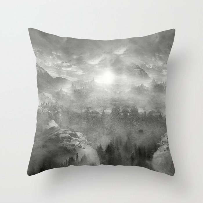 B&W - Wish You Were Here (Chapter I) Throw Pillow