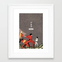 akira Framed Art Prints featuring Akira by Rafael Romeo Magat
