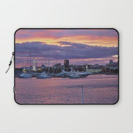 Sunset at the seaport Laptop Sleeve