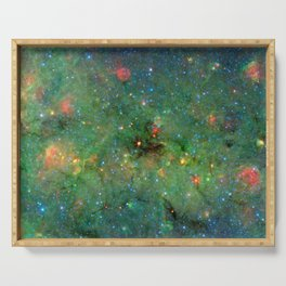 Celestial Cosmic Dusty Cloud Space Galaxy Serving Tray