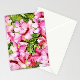 Aloha-my tropical pink oleander flower garden Stationery Cards