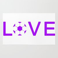 soccer Area & Throw Rugs featuring Soccer Love by Kayla Ivey