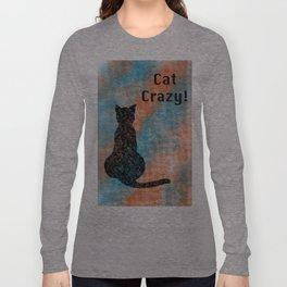 Cat Crazy T-shirts Orange & Teal Long Sleeve T-shirt