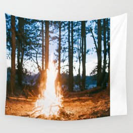camp fire Wall Tapestry