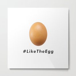 World Record Egg Like The Egg Metal Print