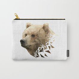 Low Poly Bear--White Carry-All Pouch