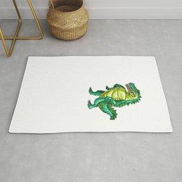 Love Crocodile Alligator Reptile Animal Rug