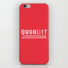Equality iPhone Skin