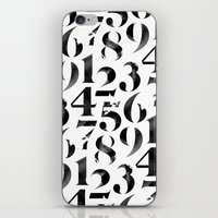 numbers iPhone & iPod Skins featuring Numbers by Sibling & Co.