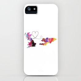 Britain to Kyrgyzstan  Quote Art Design Inspiratio iPhone Case