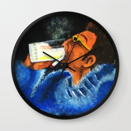 """""""HERE'S TO FEELIN' GOOD ALL THE TIME"""" Wall Clock"""
