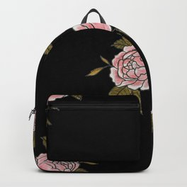 Pink Roses Watercolor Painting Pattern Backpack
