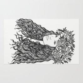 La demoiselle des fleurs Rug