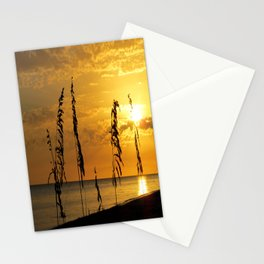 Golden Sea Oats Stationery Cards