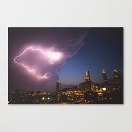 Storm Approaches Cleveland Canvas Print