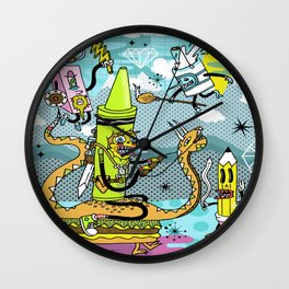 The Great Doodle Warriors Wall Clock