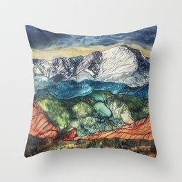 Pikes Peak Print Throw Pillow