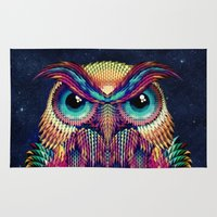 ali Area & Throw Rugs featuring OWL 2 by Ali GULEC