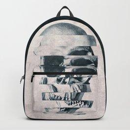 Glitch Skull Mono Backpack