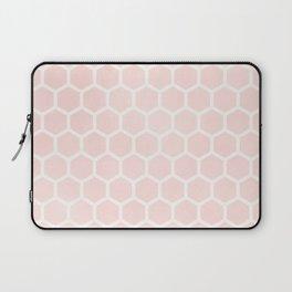 Blush Pink Coral Honeycomb Laptop Sleeve