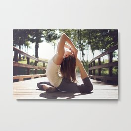 Yoga Metal Print