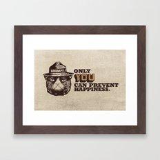 Grumpy PSA Framed Art Print