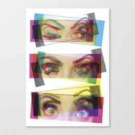3D eyes Canvas Print
