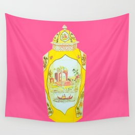 ROYAL WORCESTER PRINT PINK Wall Tapestry