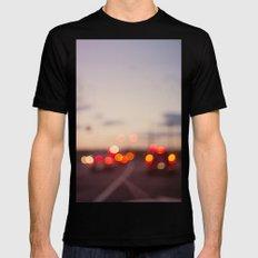 highway at dusk Black Mens Fitted Tee MEDIUM