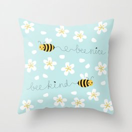 Bee Nice Throw Pillow