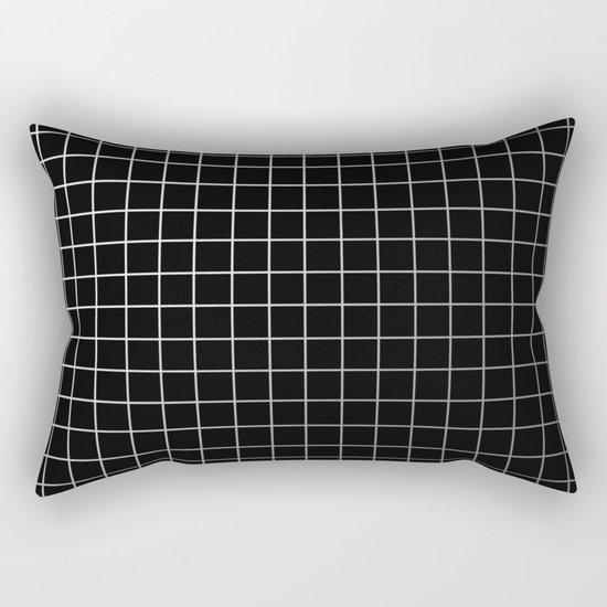 Metal Cage - Industrial, metallic grid pattern Rectangular Pillow
