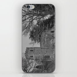 St Botolph's Church, Rugby Black and White iPhone Skin