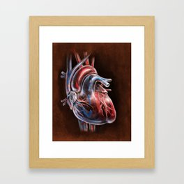 Blood Flow in Human Heart, by Chok Bun Lam Framed Art Print