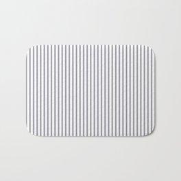 Lilac Gray Stripes Bath Mat