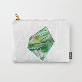 Crystal Green Watercolor Gem Carry-All Pouch