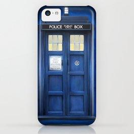 blue box iPhone Case