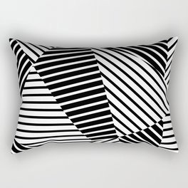 Abstract Striped Triangles Rectangular Pillow